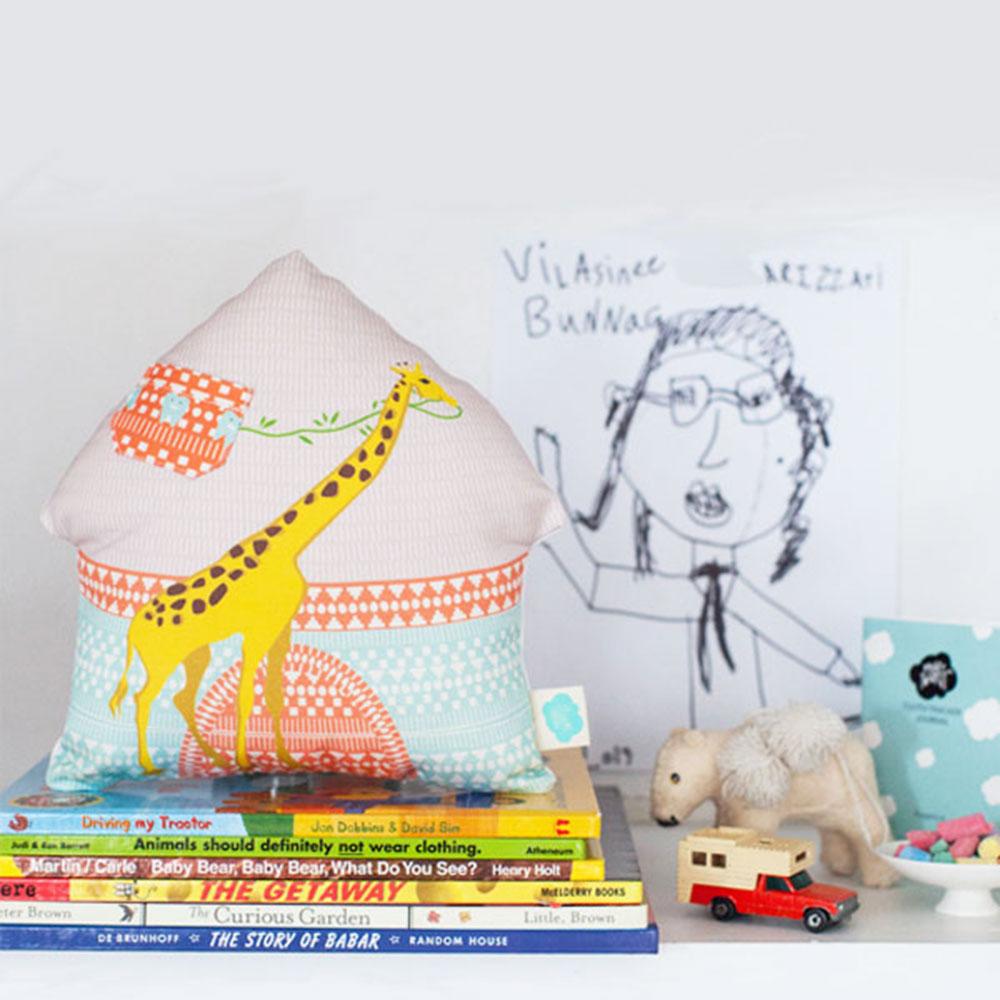Giraffe Tooth Fairy Pillow + Journal Set