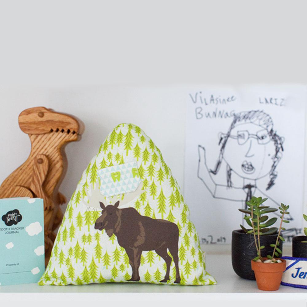 Moose Tooth Fairy Pillow + Journal Set