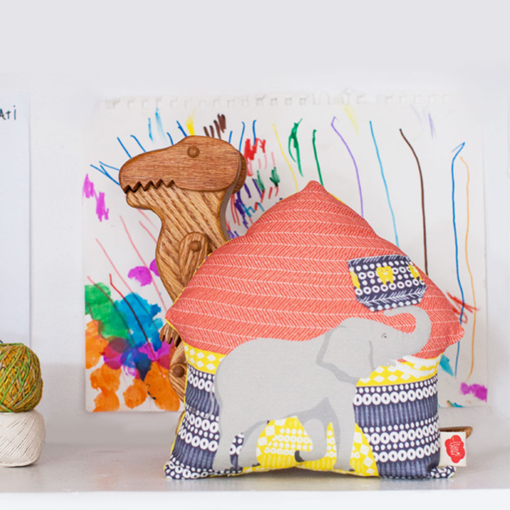 Elephant Tooth Fairy Pillow + Journal Set