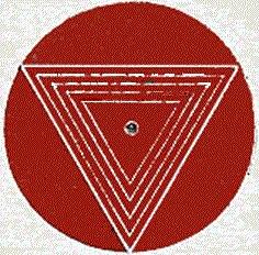 The tantric symbol of the Sacred Feminine.