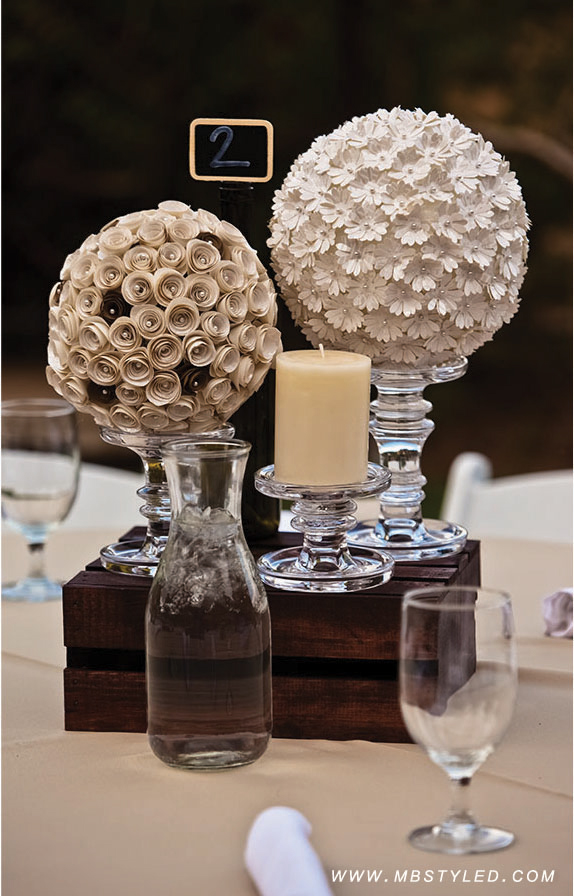 Alternative to fresh flowers for reception decor MBSTYLED.COM