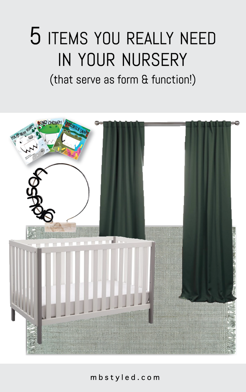 THE 5 FUNCTIONAL DECOR ITEMS YOU REALLY NEED IN YOUR NURSERY from mbstyled.com Planning out your nursery decor doesn't have to be stressful or expensive! Here are five pieces that will make a big impact in your room and bonus! They all serve as double duty being both beautiful and useful.