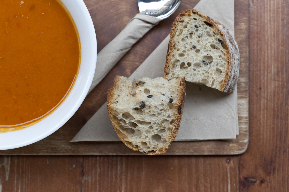 Union of Genius' soups are so good, they've won two Great Taste awards and the title of 'Best Soup in Scotland'. Enjoy them with a side of Le Petit Francais' olive & rosemary bread.