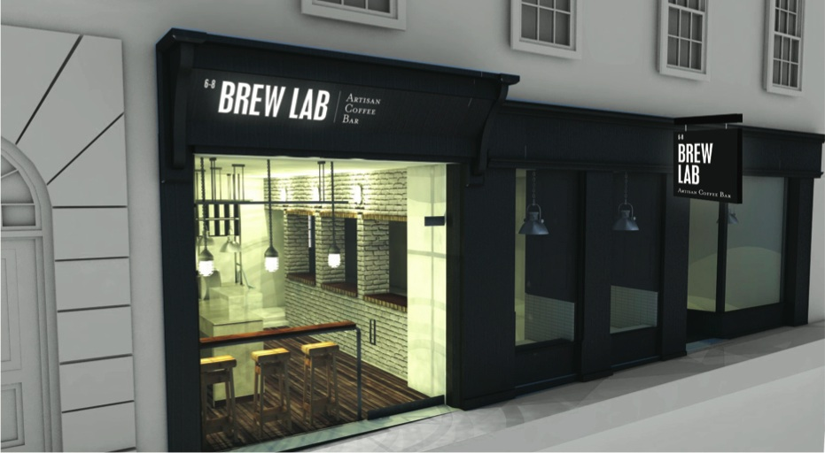 Exterior of Brew Lab