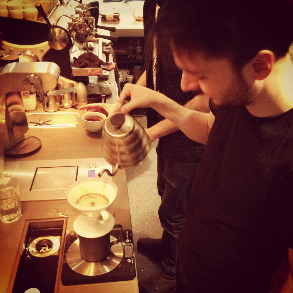 Dave brewing