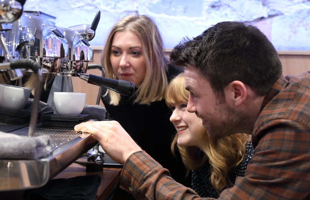 Espresso Masterclass   Learn to make barista-quality espresso and pour latte art on our Black Eagle.   Find out more