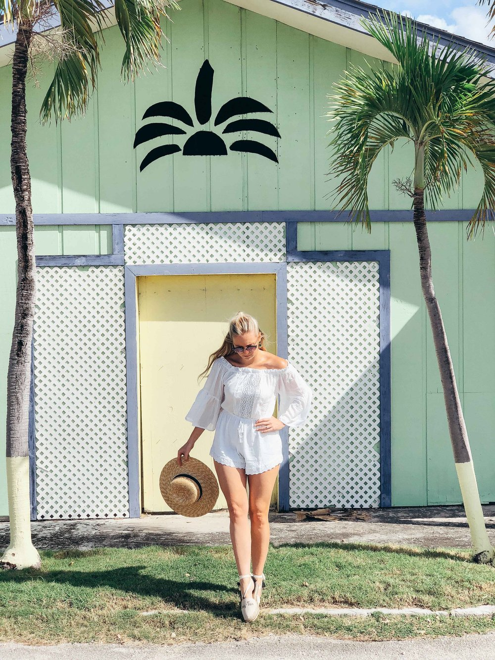 White Boho Playsuit $65 - Finally this floaty, light-weight romper designed by LJC Designs is the perfect beach number or brunch outfit. It's off the shoulder style is stylish and comfy to wear and the tied waist gives it a beautiful shape. Nude underwear is a must and it runs a little larger in size - I wore a Small.