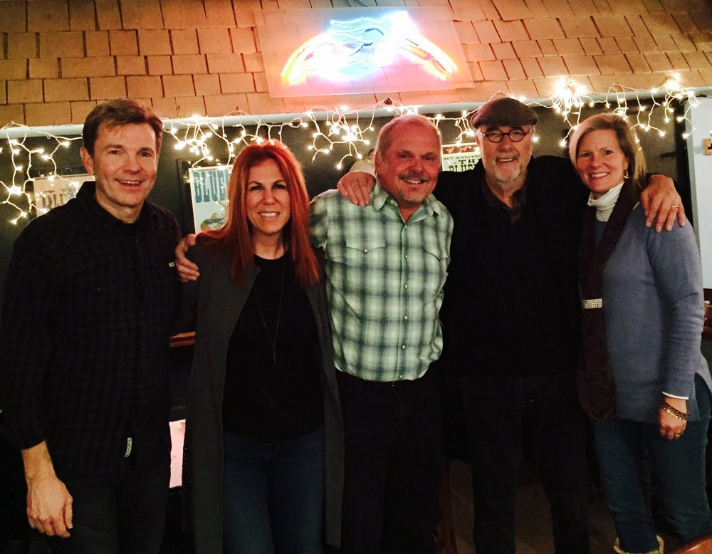Lionel, Victoria Shaw, Kent Blazy, Roger Cook, Anna-Gene O'Neal (CEO - Alive Hospice) at the Bluebird Cafe
