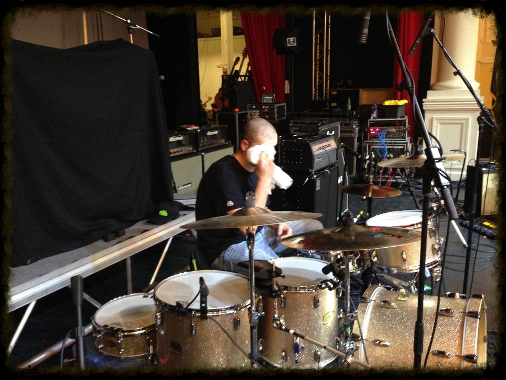 Kyle's sound check...