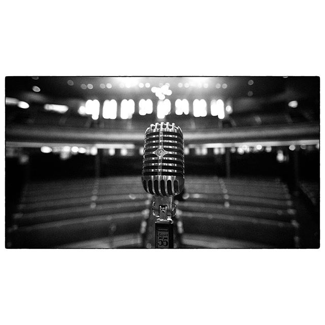 The view from center stage @theryman in Nashville, TN. It's lazy to re-use an idea but I think I like this frame even more than the Sun Studio one! #motherchurch #nashville #tennessee #bw #16x9