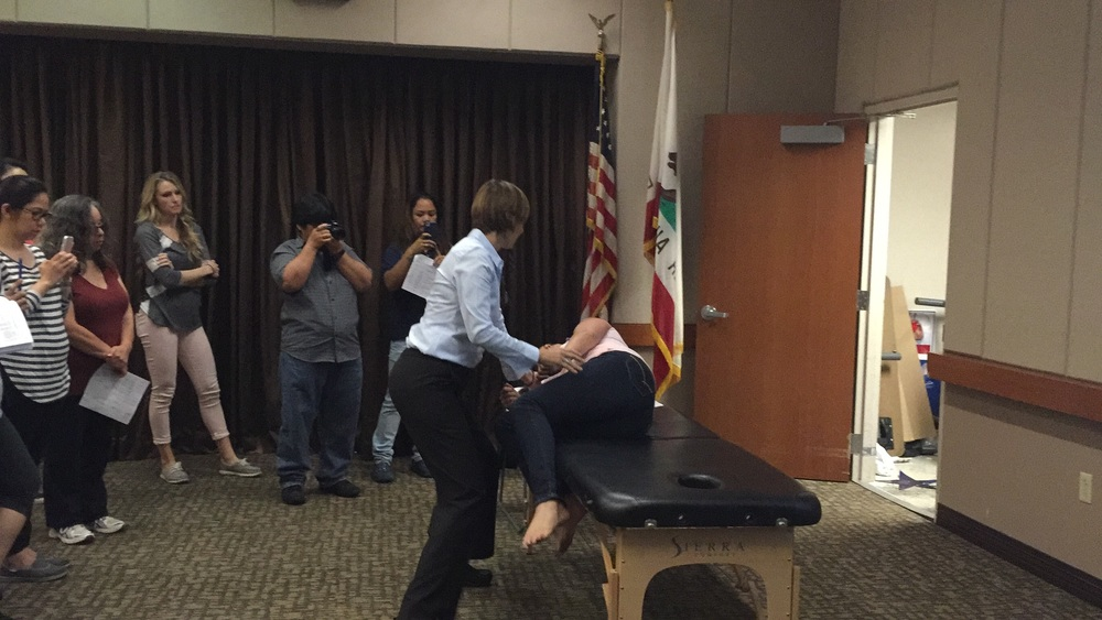 Dr. Wendy wood demonstrates the side lying test as an alternative to the Dix Hallpike test.
