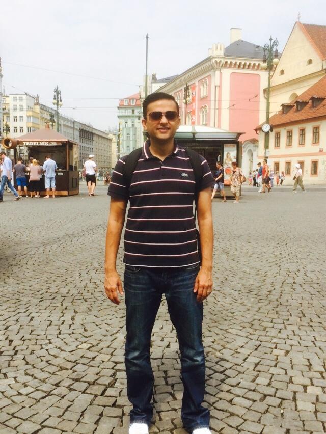 Jay in Prague.