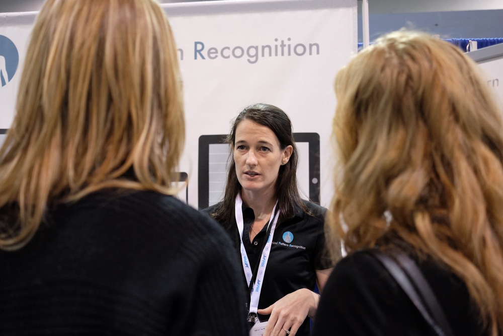 For you Educators out there, the Clinical Pattern Recognition app has some great clinicians making it, Anne Lemoine is one of them.  She is seen here educating some clinicians in the exhibit hall.