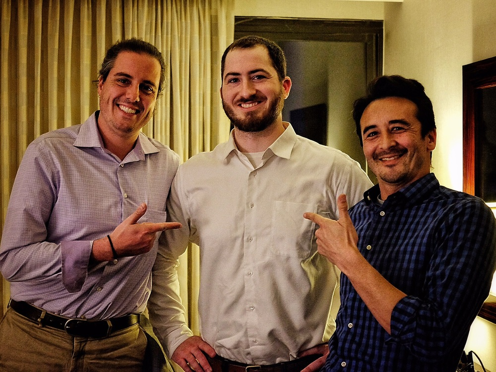 One of the highlights was meeting Andre Chavez (left)  @dre_rides_bikes  on Twitter, and  Scot Morrison (middle), @scotmorrsn on Twitter and Instagram .  These are some of the most thoughtful people I have met and just from one conversation I made a lot of changes in my research reading methods.