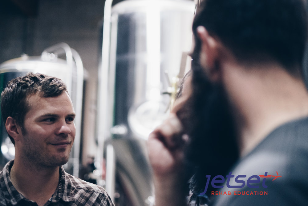 Justin Dean in the Ecliptic Brewery.