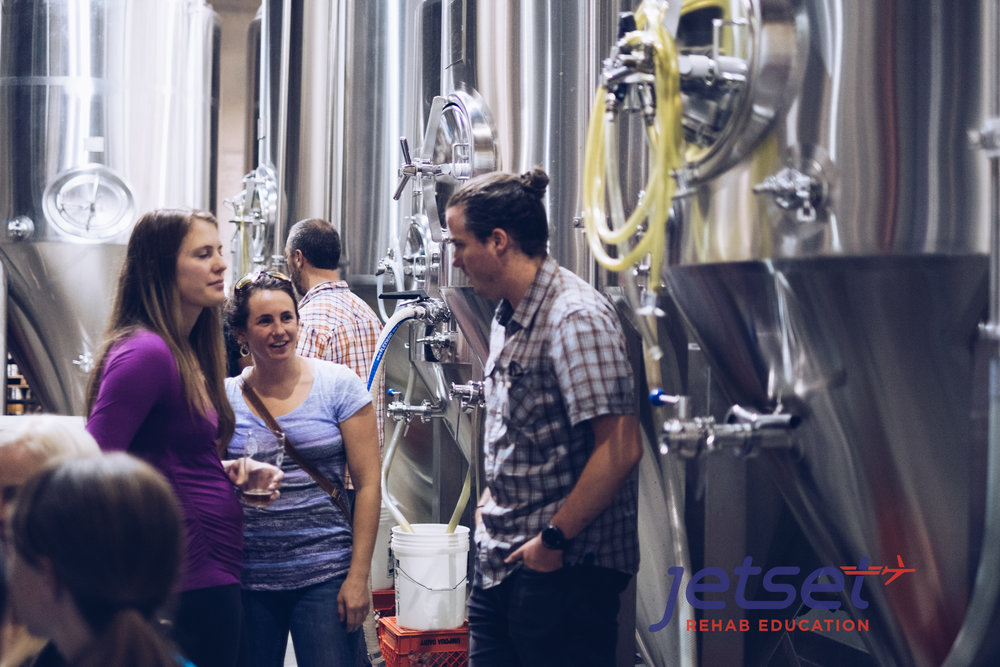 Brewery scene.  All food and drinks were included as part of our networking experience in this class by the way.