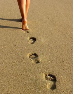 footprints in the sand....