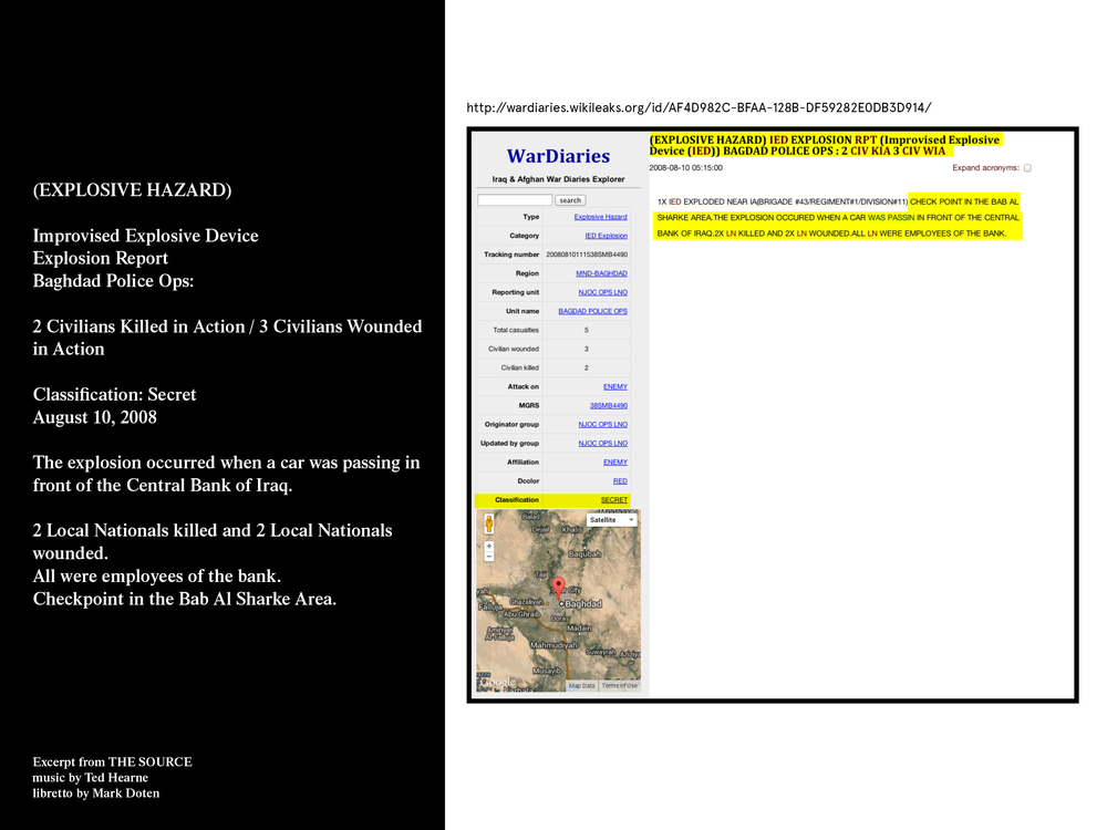 from movement 1: [EXPLOSIVE HAZARD] This text describes an incident on August 10, 2008 in which 2 Iraqi civilians were killed and 3 were wounded.