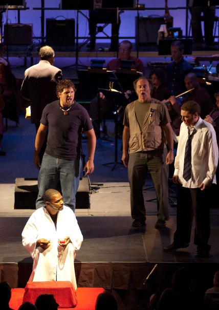 Performing in Bernstein's  Mass  with the La Jolla Symphony & Chorus. December, 2009.
