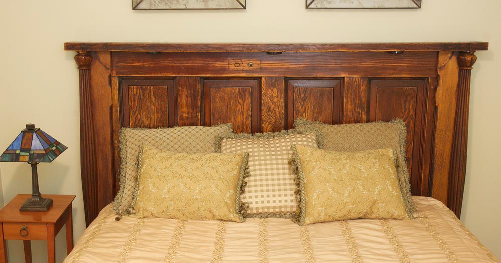 Reclaimed Door Bed V2 Front