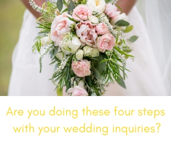 wedding planner inquiry steps
