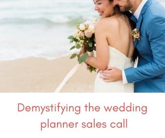 wedding planner sales call