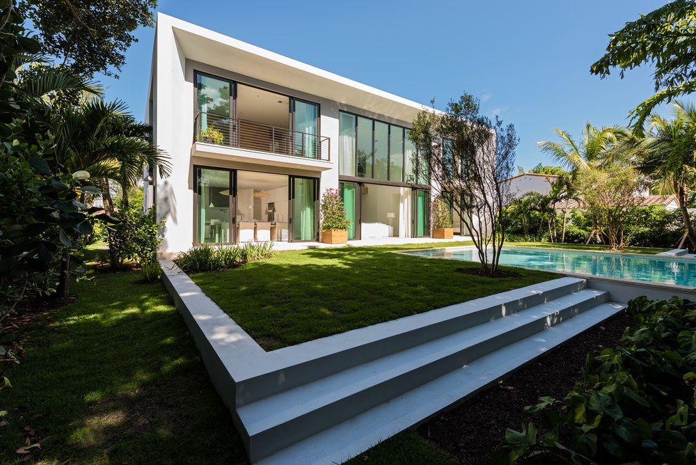 4322 Nautilus Drive, Miami Beach, FL; Architect: DOMO Architecture & Design; Builder: Todd Michael Glaser; Offered at $3,300,000