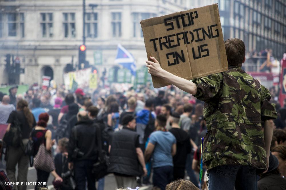Sophie Elliott #ToriesOutNow #EndAusterityNow political photography protest feminist magazine Parallel zine