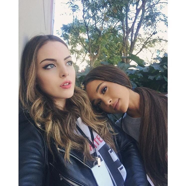 Ariana Grande (actress and singer) and Elizabeth Gillies (actress)