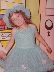 Jessica at her first dance concert at age 4