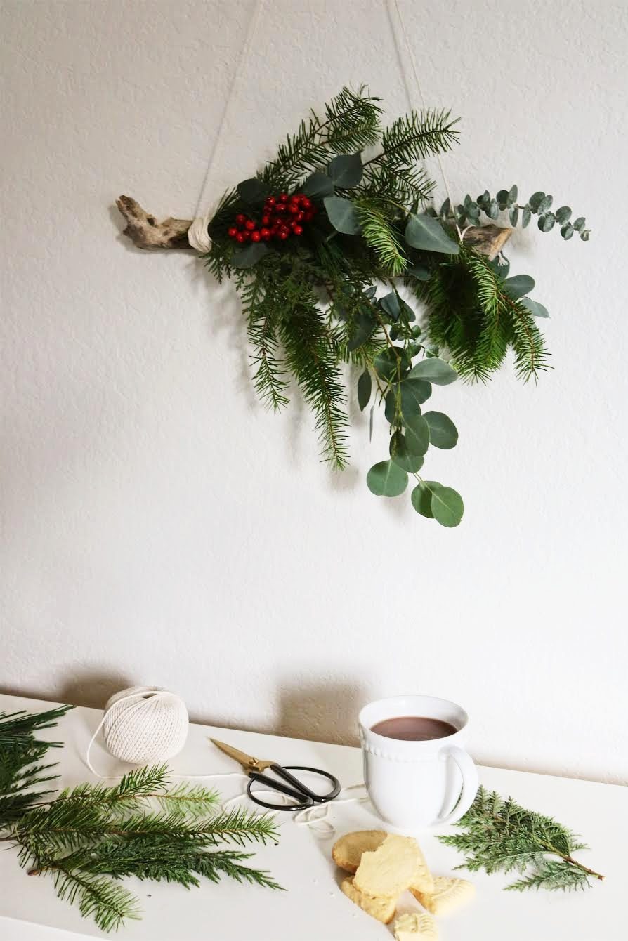 christmas diy wall hanging