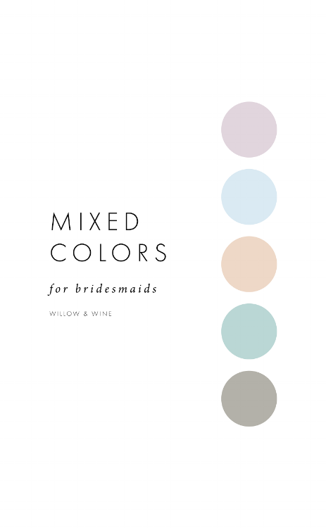 5 Bridesmaid Color Scheme Ideas: Mixed Colors
