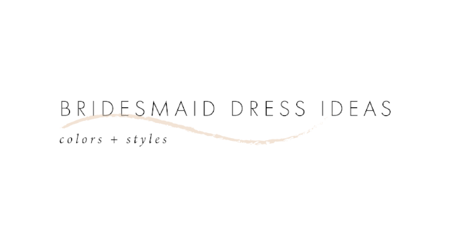 Bridesmaid Dress Color Ideas