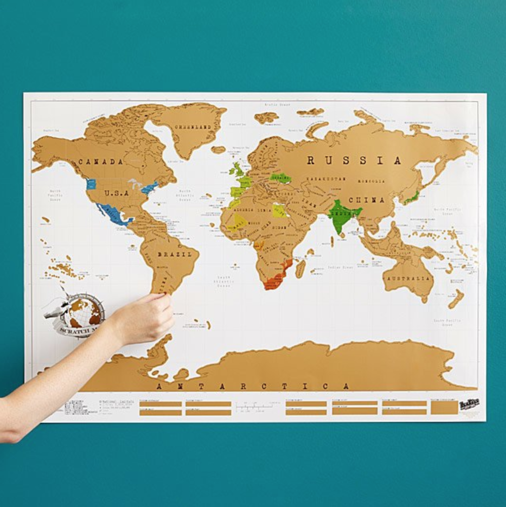 Gift Ideas For Your Newly Engaged Best Friend: Scratch Off Travel Map