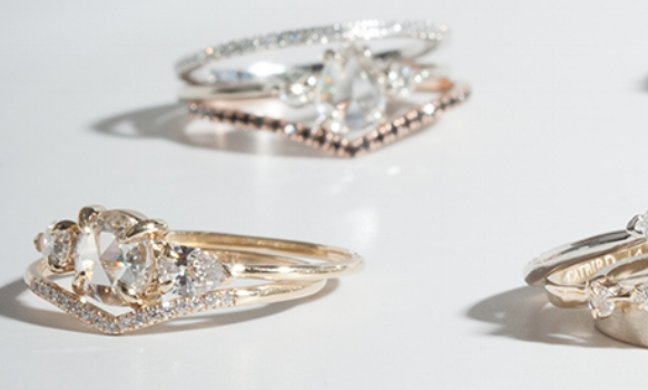 Rings shown in image above are designed by Catbird