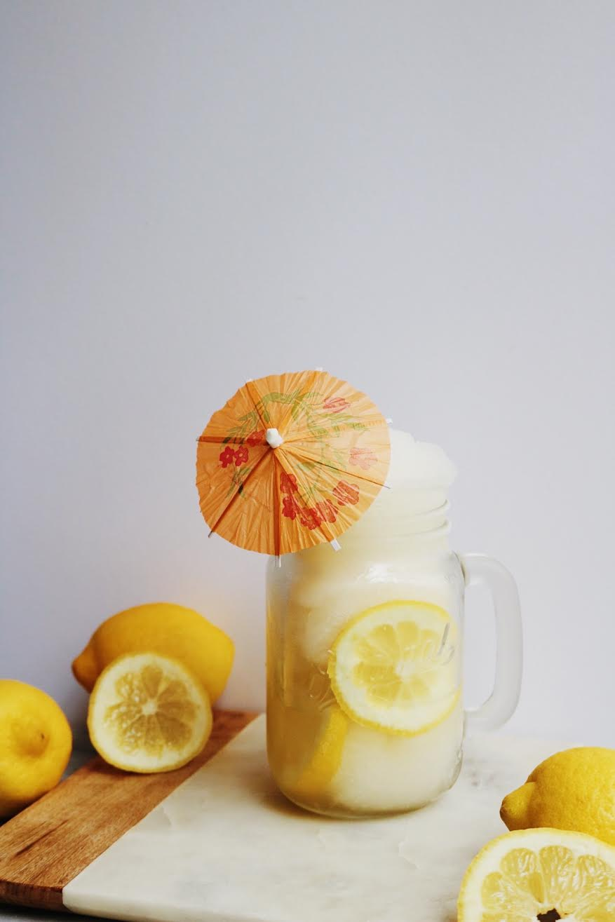 2 Ingredient Boozy Frozen Lemonade