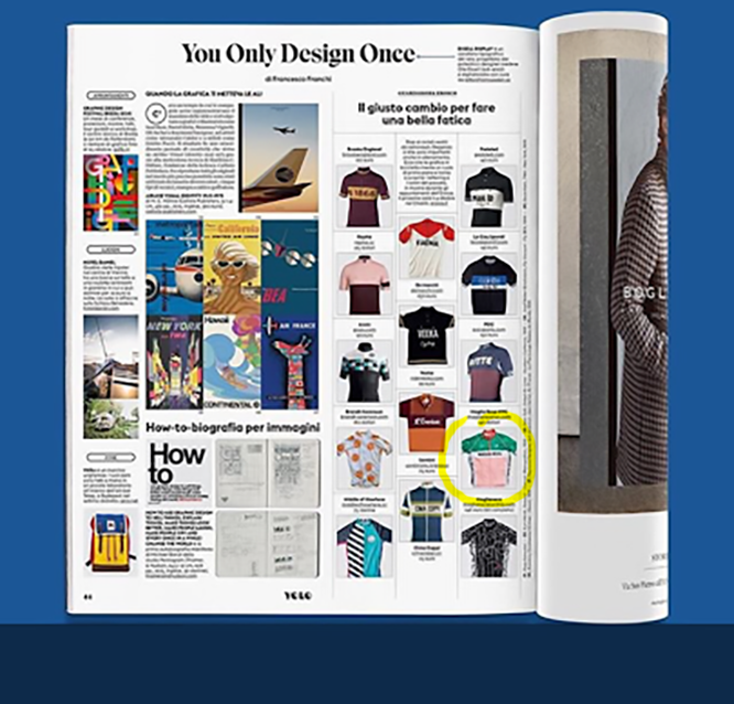 The Maglia Rosa jersey was chosen as one of the most stylish jerseys for IL magazine, the monthly mag for the Italian giant Il Sole Newspaper.