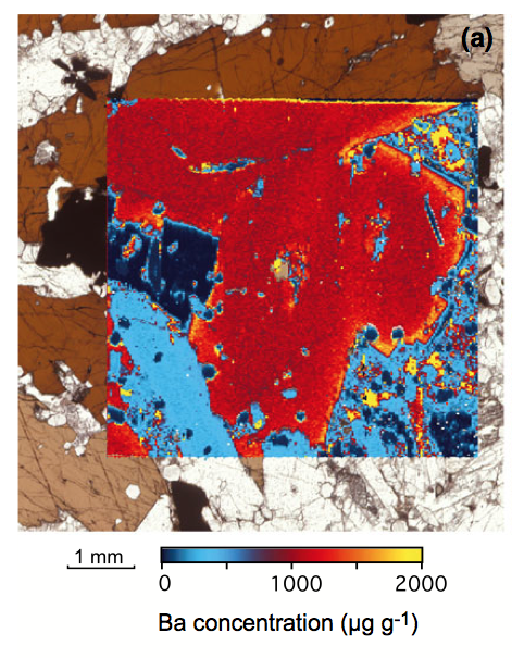 Laser ablation map of an alkali gabbro from Tahiti, see Paul et al (2014) Geostandards and Geoanalytical Research.