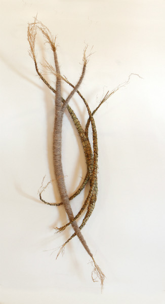 "Wisp  22"" x 14""  Hay, wire, horse hair"