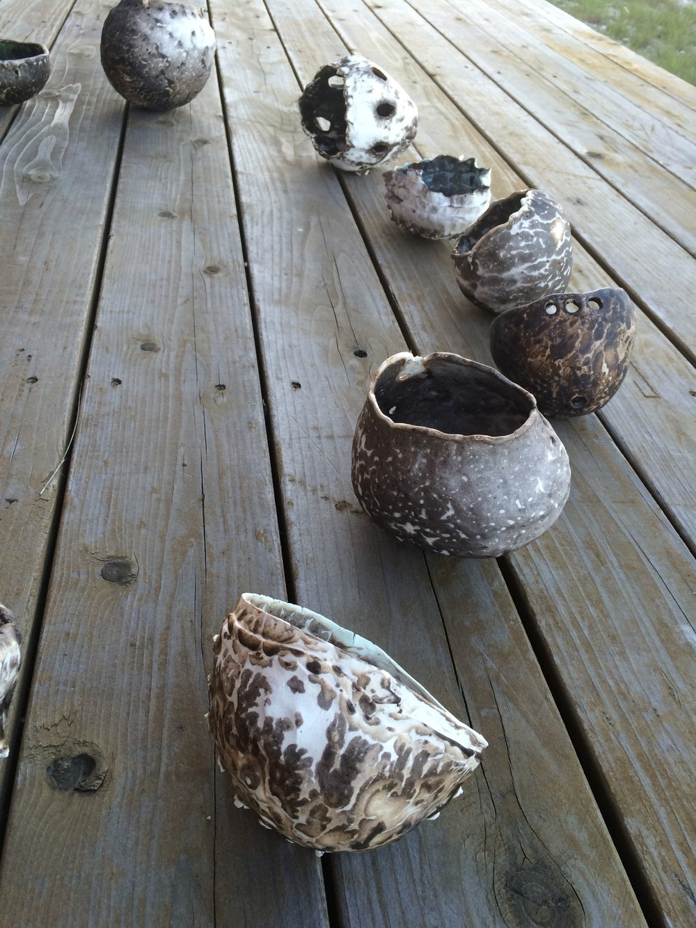 Process photo from Dearly Beloved Earthenware pinch vessels