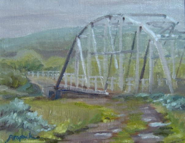 "Bridge sketch  Oil on panel  12"" x 14"""