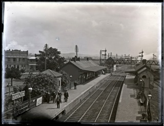 Hamilton Railway Station, Hamilton, NSW, 12 April 1906  (Photograph by Ralph Snowball, part of the Norm Barney Photographic Collection courtesy of Cultural Collections, University of Newcastle)