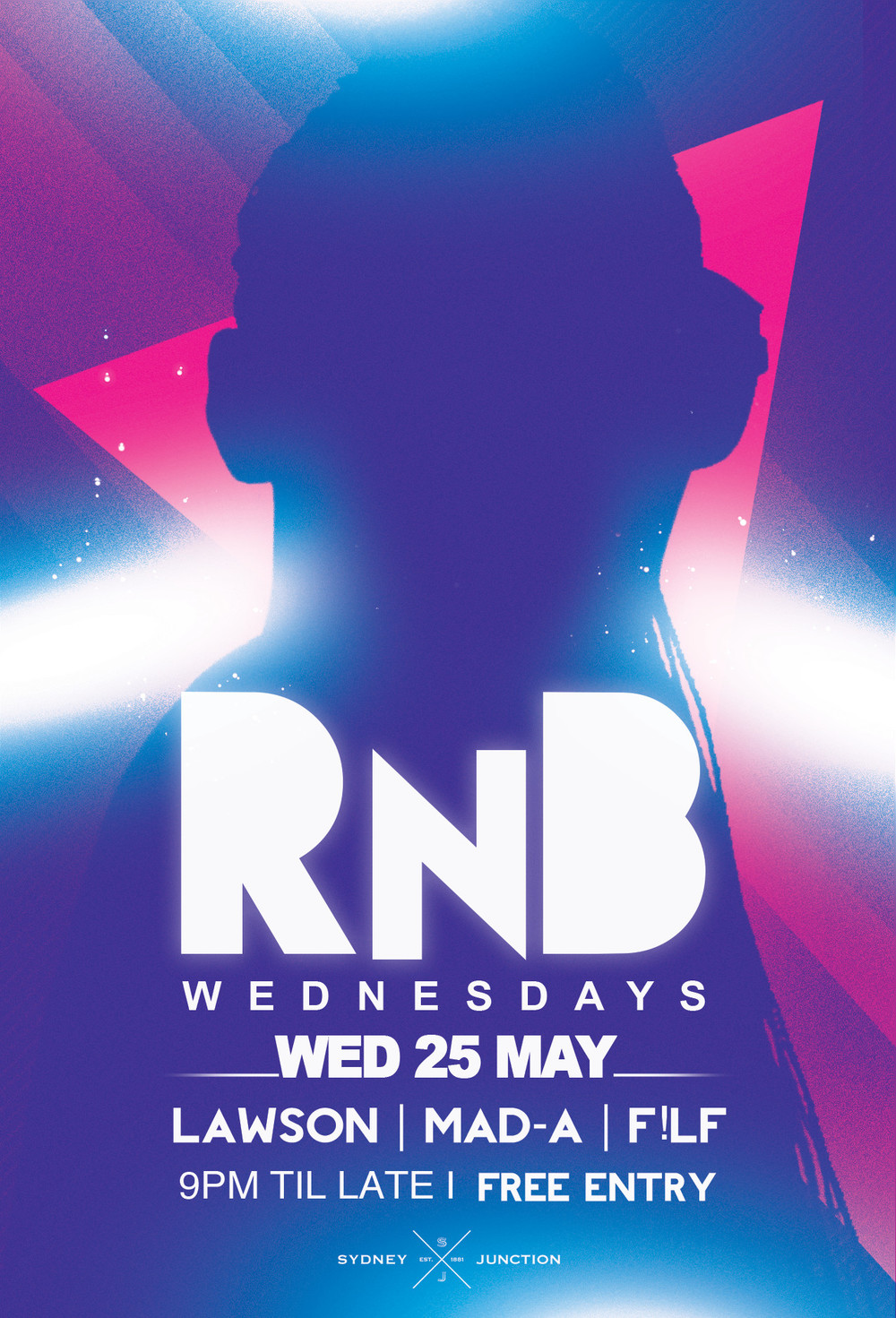 LIVE DJS: RnB WEDNESDAYS @9PM - 3AM GUEST DJS: LAWSON | MAD-A | F!ILF Join us at the all new Wednesday for Newcastle's hottest RnB Night. *** ALWAYS FREE ENTRY *** $4.50 Spirits, $4 Beers  ...Holy Moly its always a fun night.