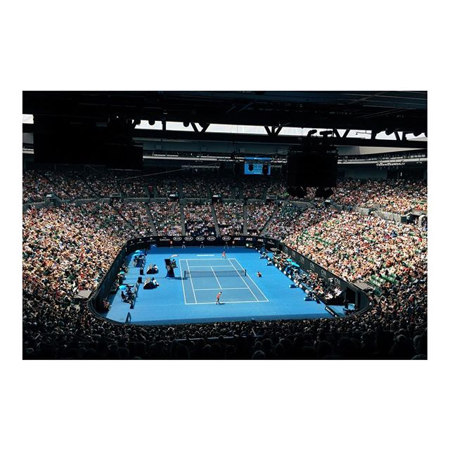 Australia Open...last row is the best row 🤷🏼♀️ #australiaopen #mymymelbourne #melbourne #victoria #australia