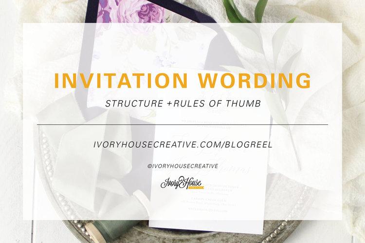 Wedding invitation wording the structure ivory house creative invitation wording blog photo2g stopboris Images