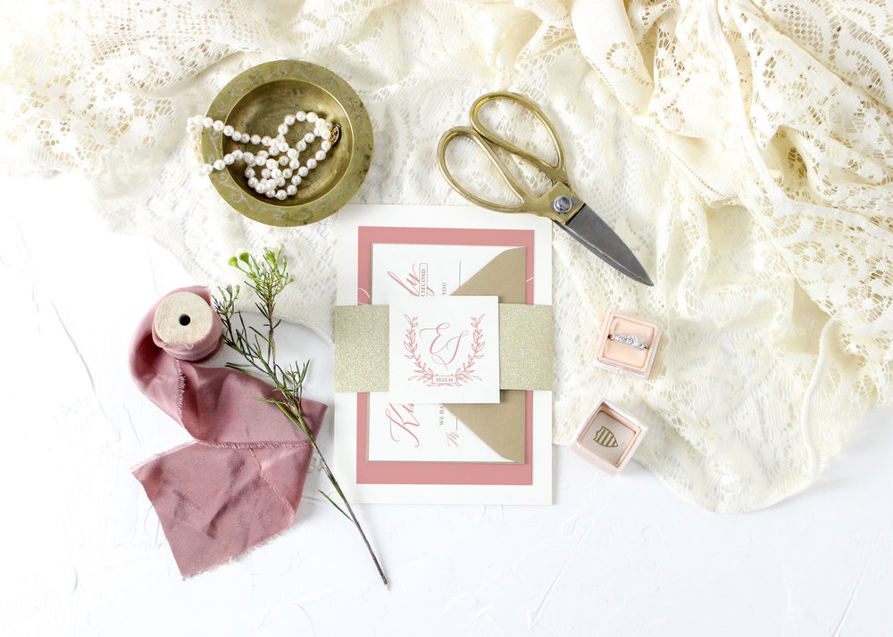 Rustic Wedding Invitation Suite with Bellyband