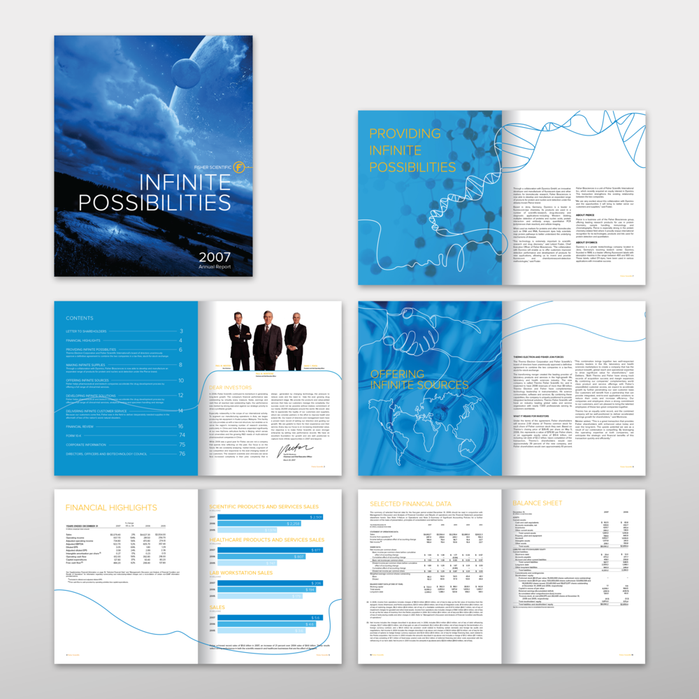 FISHER SCIENTIFIC INTERNATIONAL ANNUAL REPORT DESIGN