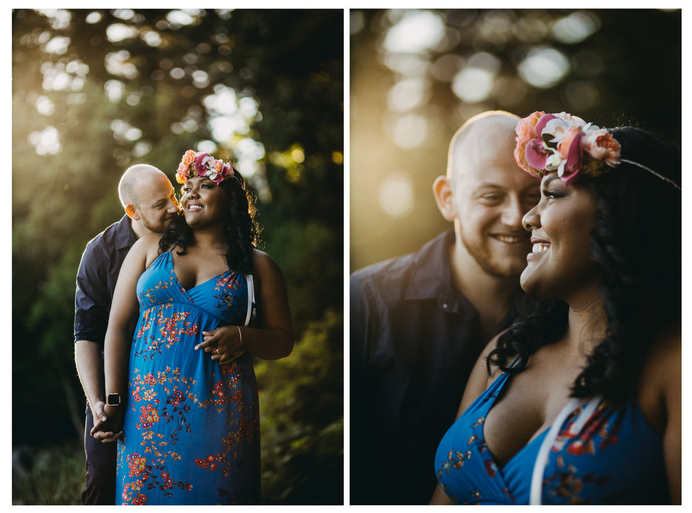 couple together portrait engagement whytecliff park