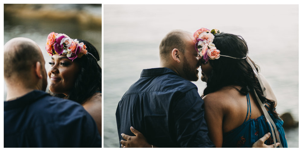 couple intimate moment candid love engagement whytecliff park