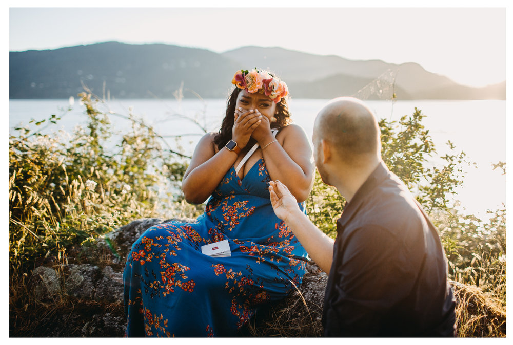 surprise reaction proposal engagement whytecliff park